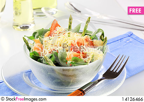 Free Fresh Vegetable Salad Royalty Free Stock Image - 14126466