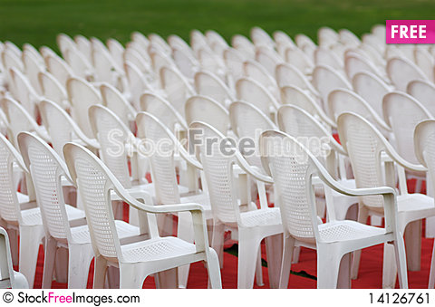 Free Many Chairs Lined Up Stock Image - 14126761