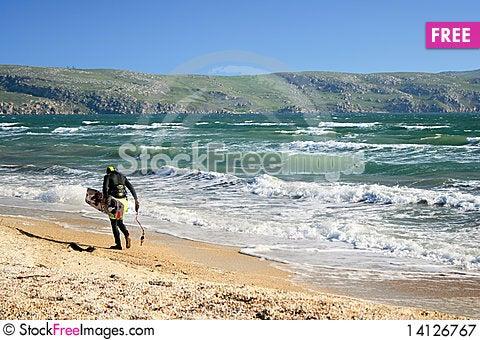 Kite surfer Stock Photo