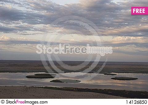 Free Sudochie Lake, Usturt Plateau Stock Photo - 14126850