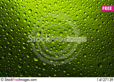 Free Green Drops Royalty Free Stock Images - 14127139