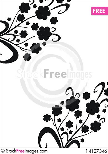 Free Floral Elements Royalty Free Stock Image - 14127346