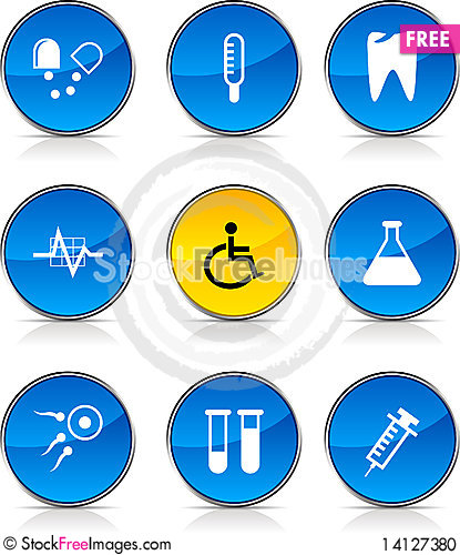 Free Medical  Icons. Stock Photo - 14127380