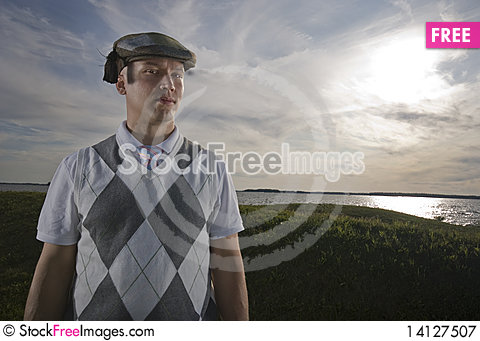 Free Man With Funny Hat. Royalty Free Stock Photography - 14127507