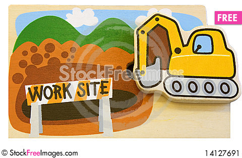 Free Toy Work Site Puzzle Stock Image - 14127691