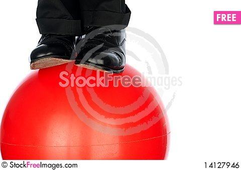 Free On The Ball Royalty Free Stock Image - 14127946