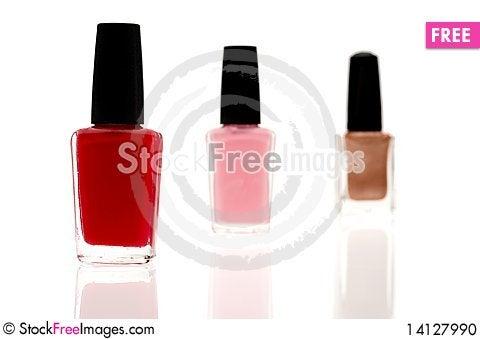 Free Three Nail Polish Containers Stock Photo - 14127990