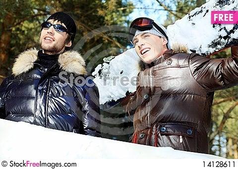 Free Boys Snowboarders Stock Image - 14128611
