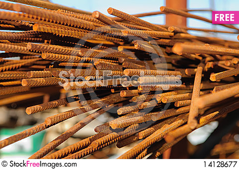 Free Reinforcement Bar Royalty Free Stock Photography - 14128677
