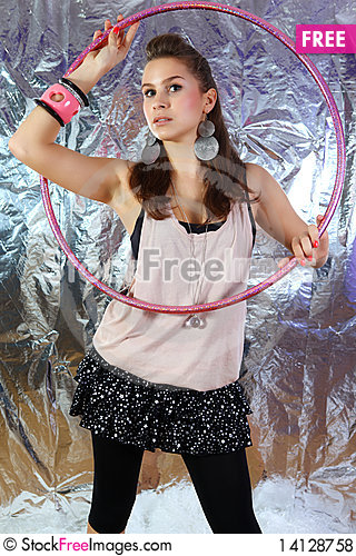 Free Portrait Of A Young Dancing Girl Royalty Free Stock Photos - 14128758