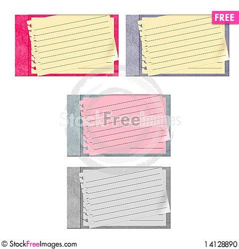 Free Set Of 4 Vector Journals Stock Photo - 14128890