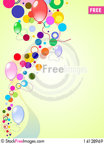 Free Colored Background With Balloons Royalty Free Stock Images - 14128969