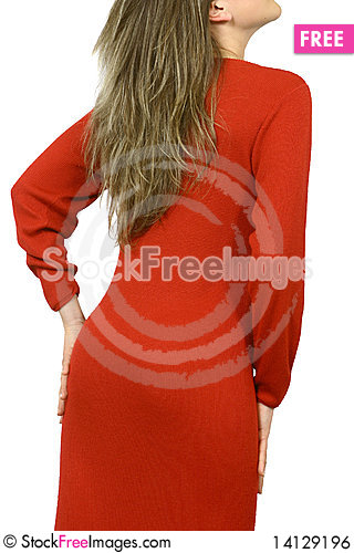 Free Girl With Red Dress Royalty Free Stock Image - 14129196