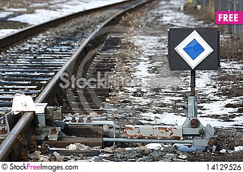Free Rail And Signal Royalty Free Stock Image - 14129526
