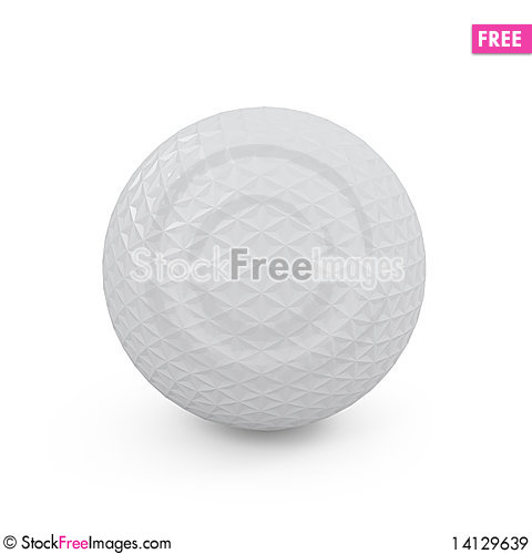 Free Concept Golf Ball Isolated On White Royalty Free Stock Images - 14129639