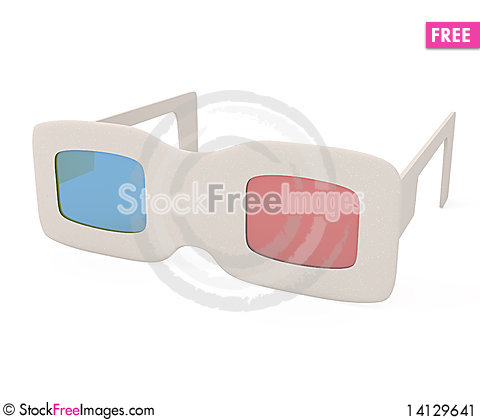 Free 3D Glasses Stock Image - 14129641