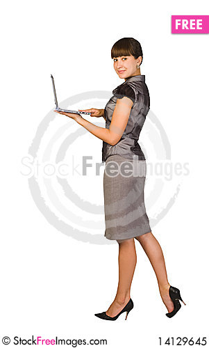 Free Beautiful Businesswoman With Laptop Royalty Free Stock Photo - 14129645