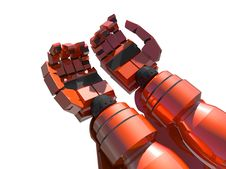 Free Two Empty Red Hands Of Robot Stock Image - 14120861