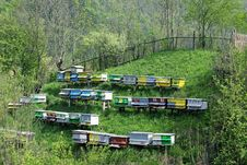 Free Beehives On A Hill Royalty Free Stock Photos - 14121158