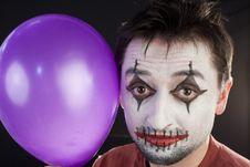 Free Portrait Of A Mime With A Balloon Stock Photos - 14121273