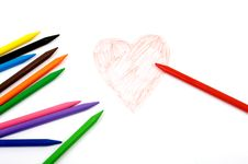 Drawing Of A Heart Royalty Free Stock Photography
