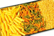 Free Pasta On A Tray Royalty Free Stock Photo - 14121525