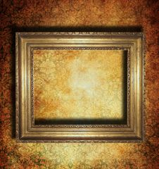 Free Vintage Golden Frame Royalty Free Stock Images - 14121559