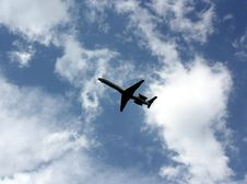 Free Jet Airplane Coming In To Land Royalty Free Stock Photography - 14123157