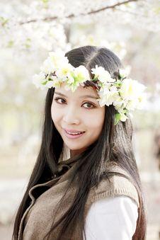 Asian Girl In Garland