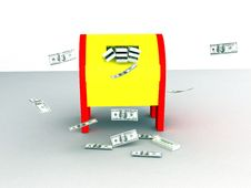 Free Money In Mailbox Stock Photos - 14123723