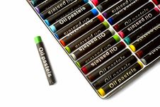 Free Oil Pastels  In Many Colors On White Stock Image - 14123821