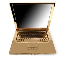 Golden Notebook Royalty Free Stock Photography