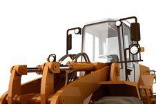 Bulldozer On Wheels Royalty Free Stock Photo