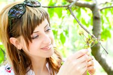 Free Beautiful Girl Between The Trees Royalty Free Stock Photos - 14124698