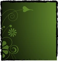 Dark Green Floral Background Royalty Free Stock Photography