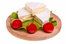 Round Camembert Cheese.