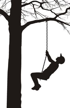 Free A Boy Swings On A Tree Stock Photos - 14126283