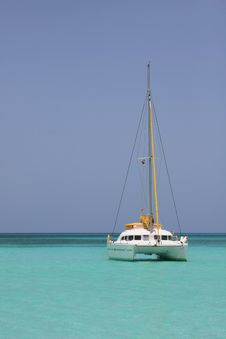 Catamaran In Saona Beach Royalty Free Stock Photos