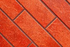 Dark Red Brick Tile Wall. Stock Photos