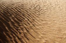 Algeria Sahara Dune Landscape Light Game Stock Images