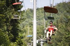 Free Woman On Chairlift Royalty Free Stock Photo - 14127575