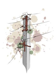 Urban Grungy Pillar Stock Image