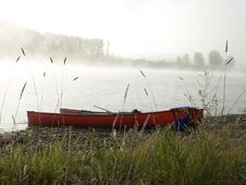Canada Canoe River Bak And Fog