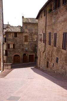 An Old, Narrow Street In Tuscany