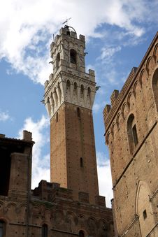 Free Siena S Torre Del Mangia Tower Royalty Free Stock Photography - 14128647