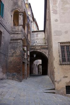 Old Street In Tuscany Stock Photo