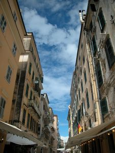 Free Corfu Street 1 Royalty Free Stock Photography - 14129897