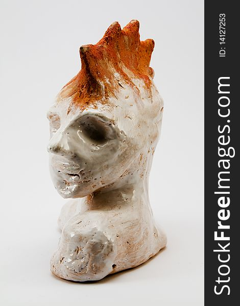 Rocker clay bust