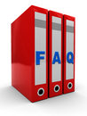 Free Faq Folders Royalty Free Stock Images - 14130659