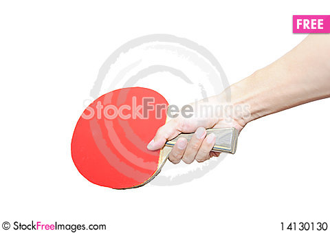 Free A Hand Holding Table Tennis Bat Stock Photo - 14130130